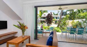 louisa aparthotel dominicana salon terraza